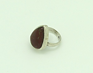 Sterling Teardrop Stone Ring