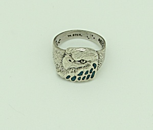 Sterling Silver American Eagle Ring (Image1)