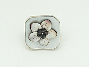 Vintage Button Sterling Ring  (Image1)