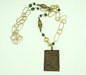 Vermeil Link Necklace with Pendant (Image1)