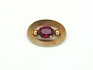 Winard Retro Brooch with Red Glass (Image1)