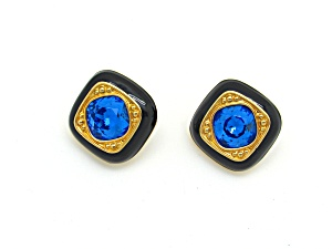 Swarovski Blue Rhinestone Earrings (Image1)