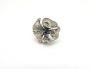 Sterling Lily Ring