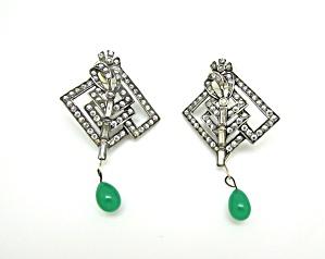 Art Deco Buckle Earrings (Image1)