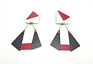 1980s Artist Made Earrings