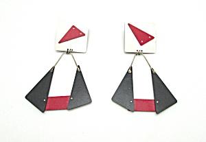 1980s Artist Made Earrings (Image1)
