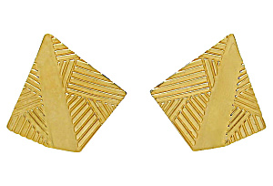 Monet Embossed Geometric Earrings (Image1)