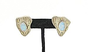 Opal and Sterling Earrings (Image1)