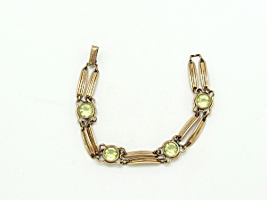 Gold Filled Link Bracelet with Glass (Image1)