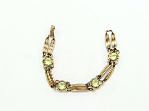 Gold Filled Link Bracelet with Glass (Image1)