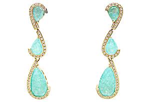 Faux-Emerald Drop Earrings (Image1)