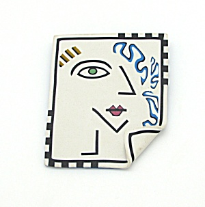 1980s Fimo Clay Brooch (Image1)