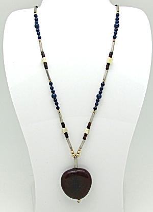 Carved Asian Design Pendant Necklace (Image1)