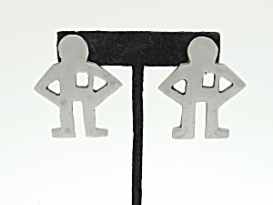Keith Haring Style Earrings