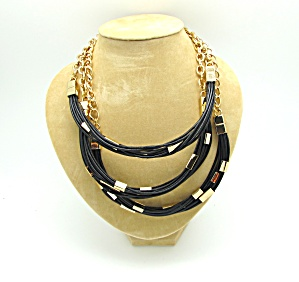 Tri Strand Leather Necklace (Image1)
