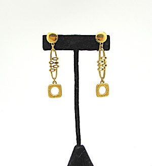 Trifari Post-modern Design Earrings
