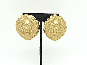 Lion's Head Earrings (Image1)