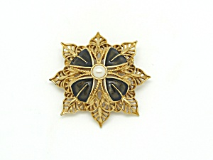 Monet Regal Enameled Brooch