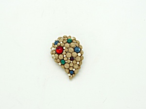 S.A. Textured Tear Drop Brooch (Image1)