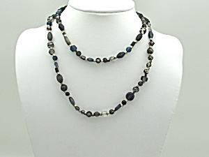 Smoky Glass Bead Necklace (Image1)