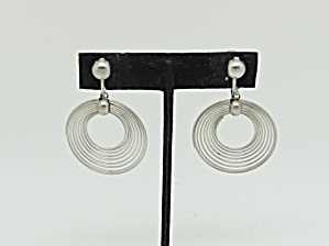 Mod Concentric Circle Earrings   (Image1)