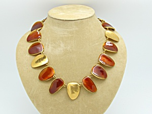Enameled Petal Necklace   (Image1)