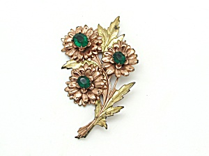 Tri Flower Brooch