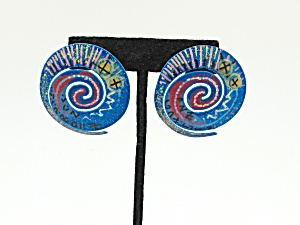 1980s Metal Earrings (Image1)