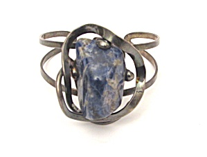 Cuff With Blue Stone (Image1)