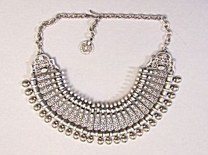 Silvertone Ethnic Necklace (Image1)