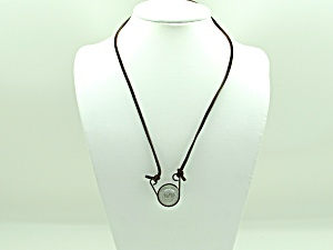 Suede Necklace with Glass Orb (Image1)