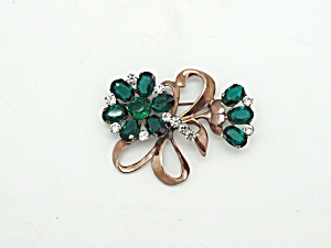Sterling Vermeil Flower Brooch (Image1)