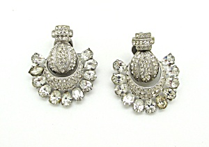 Rhinestone Door Knocker Earrings   (Image1)