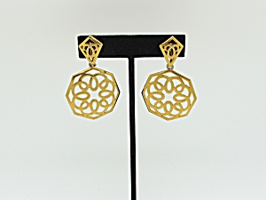 Trifari Mod Design Earrings   (Image1)