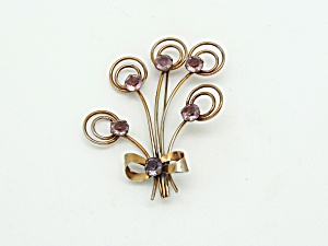Retro Floral Bow Brooch