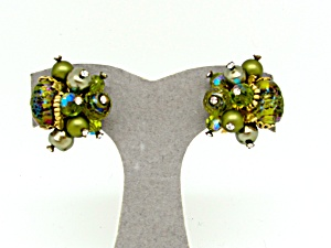Vendome Multi Glass Bead Earrings   (Image1)