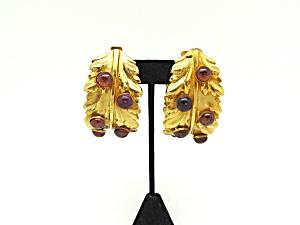 Dominique Aurientis Paris Leaf Earrings   (Image1)