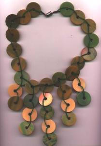 Fabricated necklace made from old pieces of b (Image1)