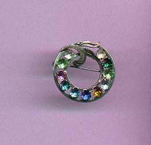 Sterling and rhinestone pin (Image1)