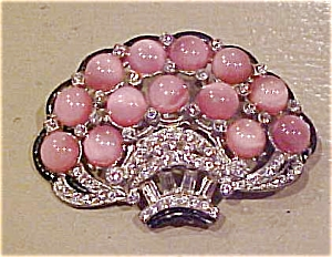 1930's basket pin with rhinestones (Image1)