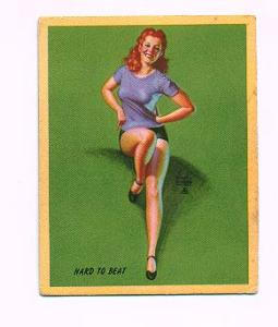Earl Moran pin-up card - Hard to Beat (Image1)