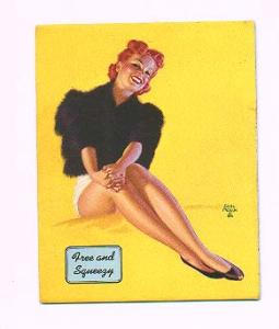 Earl Moran pin-up card - Free and Squeezy (Image1)