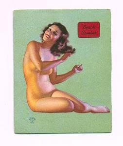 Earl Moran Pin-up Card - Beach Comber