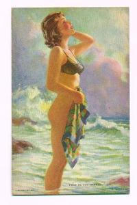 Pin up mutoscope card - Free as the Breeze (Image1)