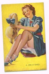 Pin up mutoscope card - A Peek-A-Knees (Image1)