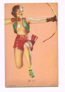 Pin up Mutoscope card - Sure Shot (Image1)