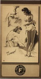 Munson Notepad 1945 pinup (Image1)