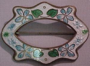 Art nouveau enameled sash ornament (Image1)