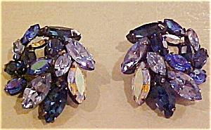 Regency blue rhinestone earrings (Image1)