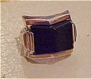 Sterling and black onyx ring (Image1)